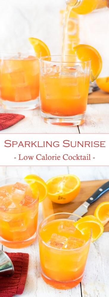 Sparkling Sunrise - Low Calorie Cocktail