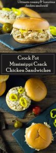 Crock Pot Mississippi Crack Chicken Sandwiches recipe