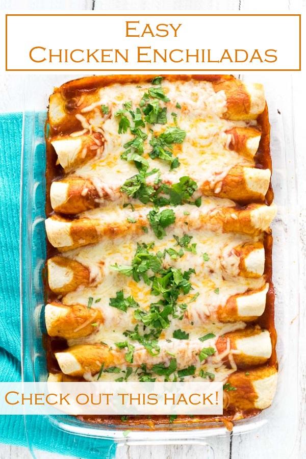 Easy Chicken Enchiladas recipe #easy #mexican #chicken #texmex #enchiladas