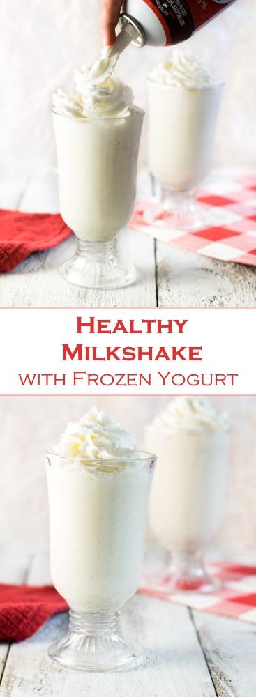 Healthy Milkshake with Frozen Yogurt