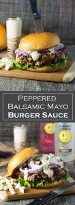 Peppered Balsamic Mayo Burger Sauce recipe