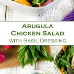 Arugula Chicken Salad with Basil Dressing Recipe