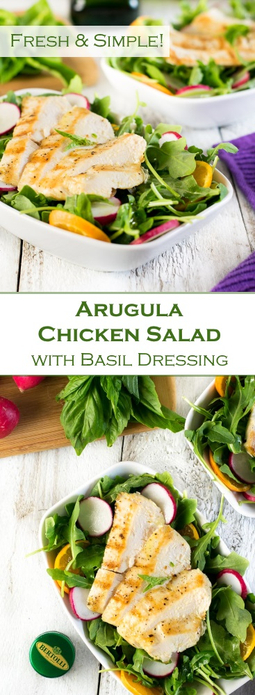 Arugula Chicken Salad with Basil Dressing Recipe