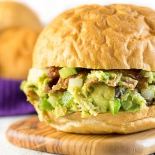 Bacon Avocado Chicken Salad Sandwiches