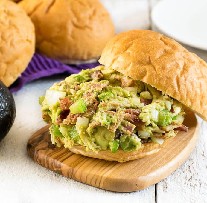 Bacon Avocado Chicken Salad Sandwiches
