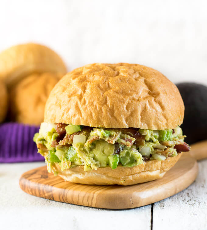 Bacon Avocado Chicken Salad Sandwiches - Fox Valley Foodie