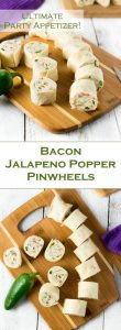 Bacon Jalapeno Popper Pinwheels recipe - Party Appetizer