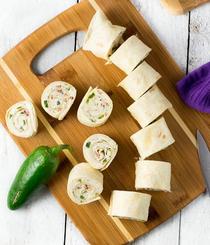 Bacon Jalapeno Popper Pinwheels Recipe