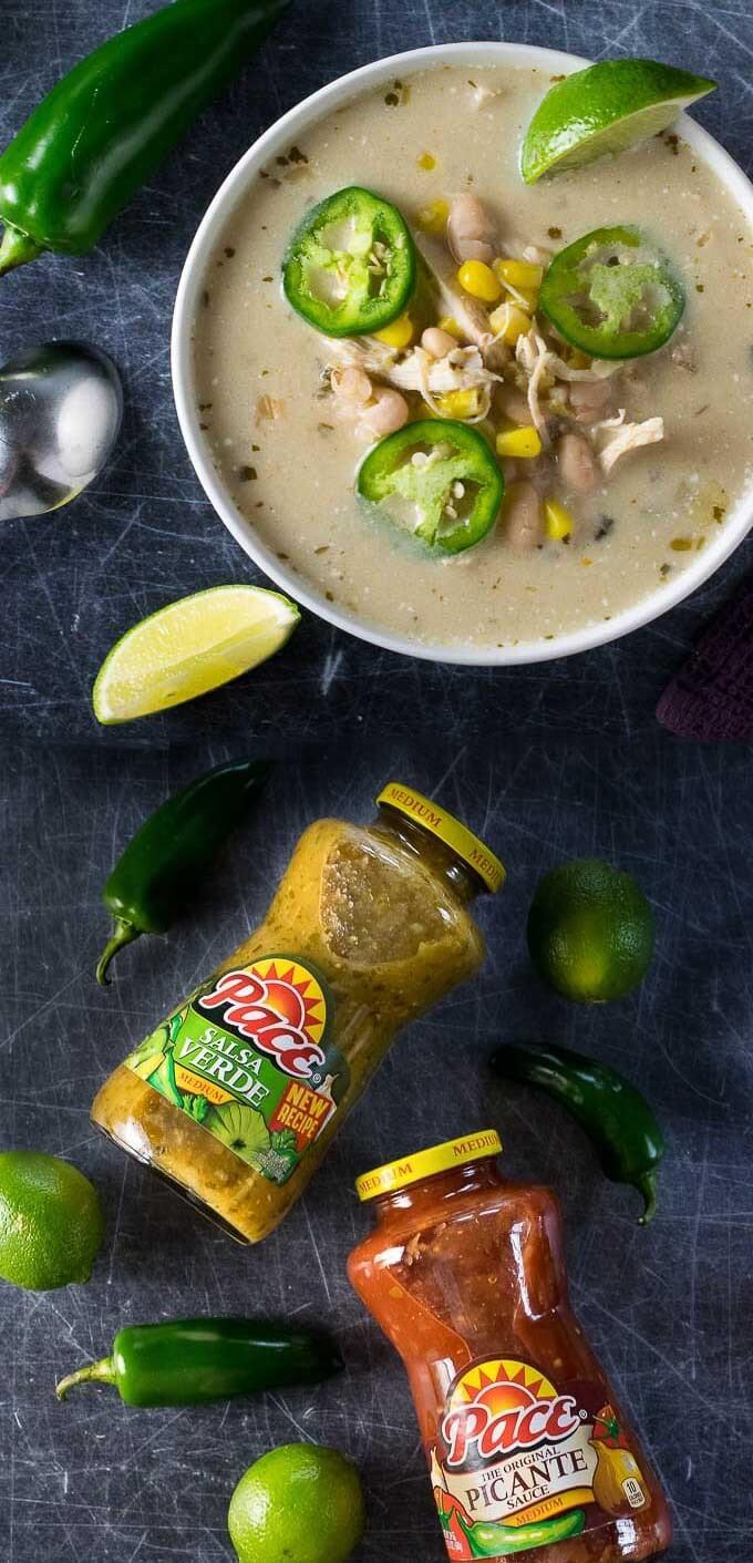 Creamy Chicken Chili Verde Slow Cooker