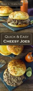 Quick and Easy Cheesy Joes Recipe