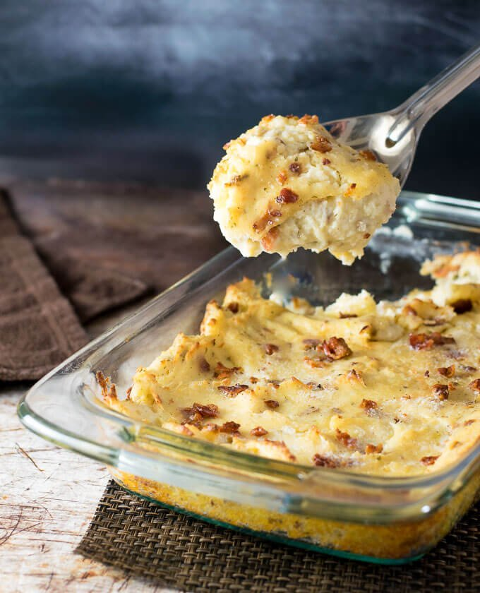 Bacon Ranch Mashed Potatoes