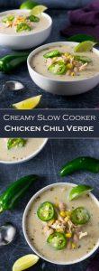 Creamy Crock Pot Chicken Chili Verde recipe