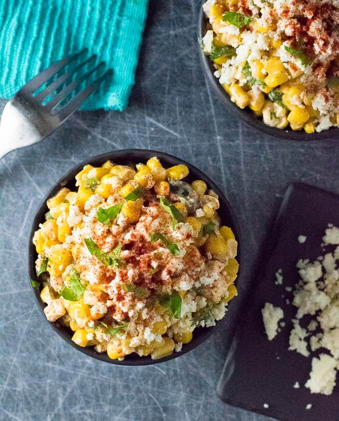 Mexican Street Corn Salad in bowl