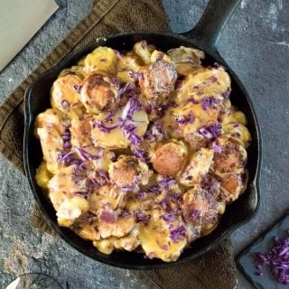 Cheesy Kielbasa and Potato Skillet