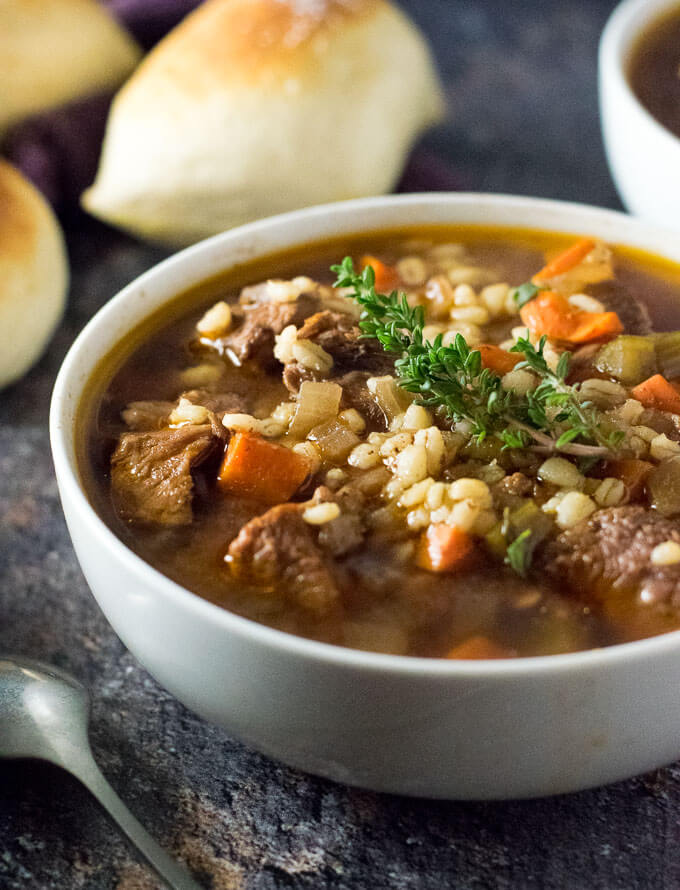Crock Pot Beef and Barley Soup