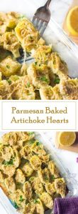 Parmesan Baked Artichoke Hearts recipe - Party Appetizer