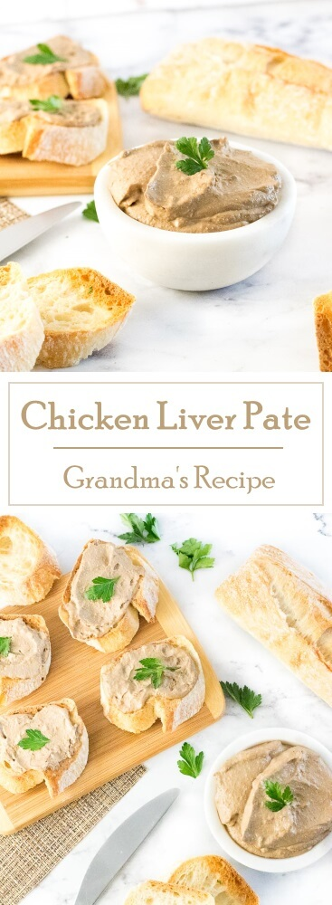 Chicken Liver Pate - Party Appetizer - Grandma's Recipe