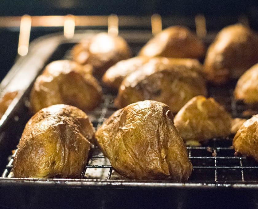 Oven Baked Potato Skins Appetizer