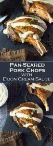 Pan-Seared Pork Chops with Dijon Cream Sauce recipe