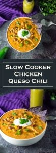 Slow Cooker Chicken Queso Chili Recipe