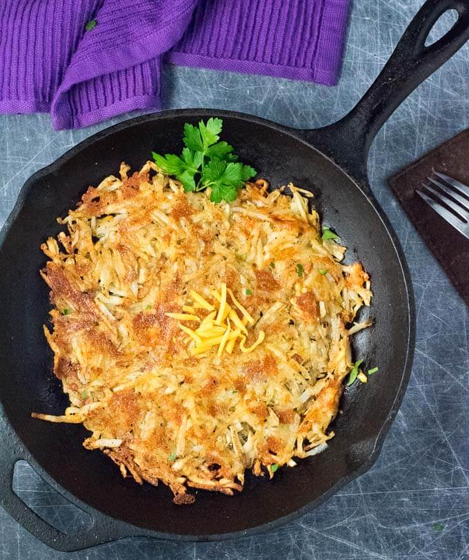 Cheddar-Crusted Homemade Hash Browns