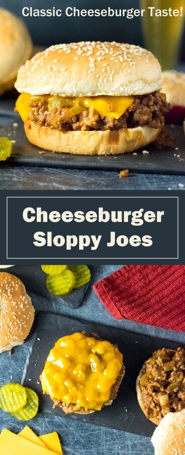 Cheeseburger Sloppy Joes recipe - quick and easy!