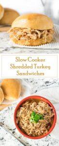 Slow Cooker Shredded Turkey Sandwiches recipe