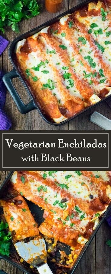 Vegetarian Enchiladas with Black Beans recipe