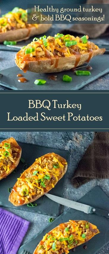 BBQ Turkey Loaded Sweet Potatoes Healthy Recipe
