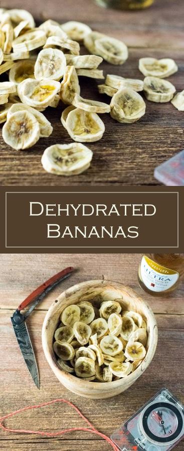Dehydrated Bananas recipe - Hiking Snack