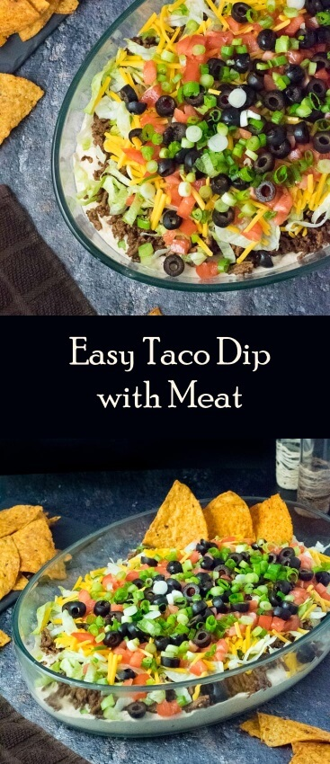 Easy Taco Dip with Meat recipe - Party Appetizer