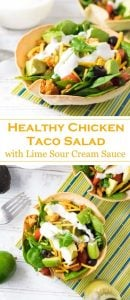 Healthy Chicken Taco Salad Recipe Mexican
