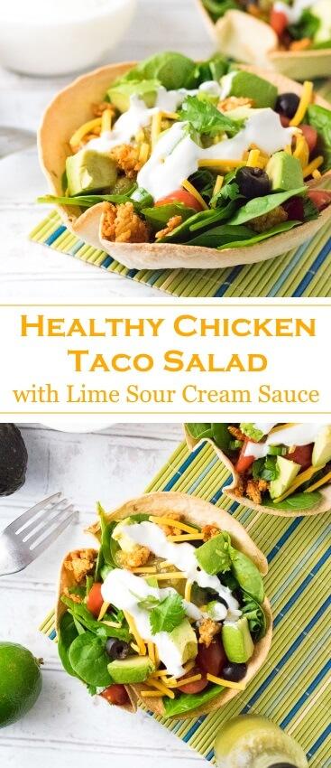 Healthy Chicken Taco Salad Recipe Mexican