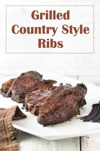Grilled Country Style Ribs recipe #pork #grilled #grill #cookout #ribs #bbq
