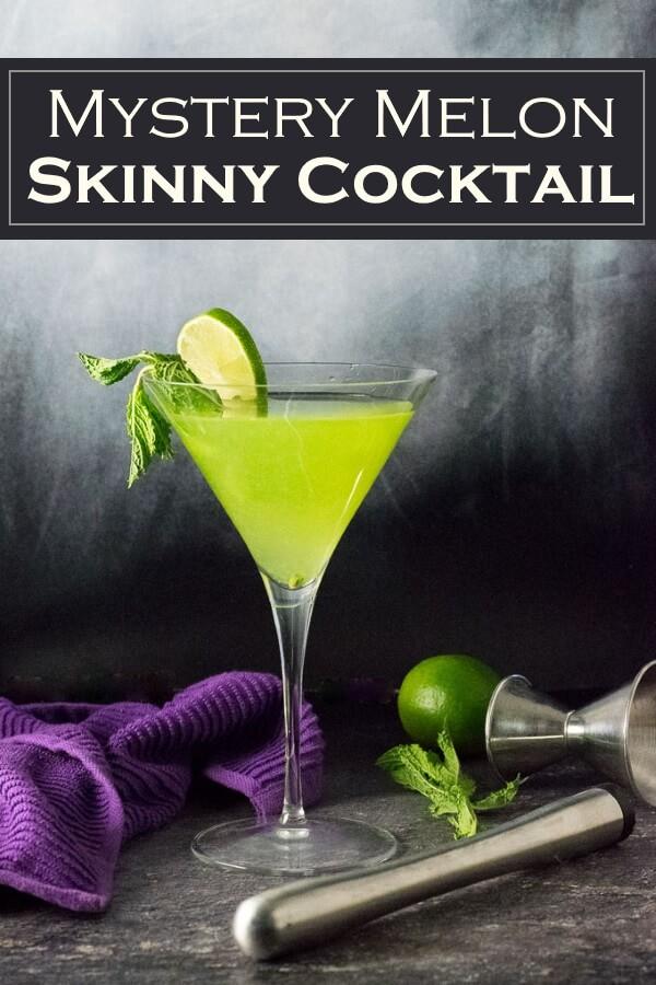 Mystery Melon Skinny Cocktail recipe #skinny #cocktail #drink #rum