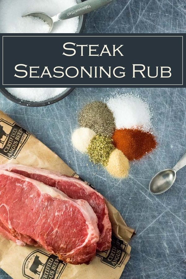Steak Seasoning Rub recipe #grilling #steak #cookout #sponsored