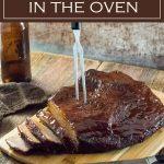 BBQ Brisket in the Oven recipe #bbq #beef #brisket #easy