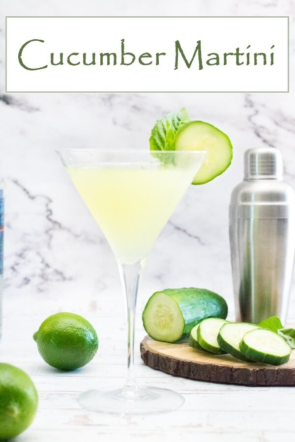 Cucumber Martini recipe #cocktail #drink #vodka #martini #liquor