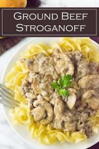 Ground Beef Stroganoff recipe #dinner #beef #midwestern #comfortfood