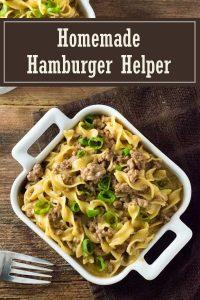 Homemade Hamburger Helper recipe #dinner #beef #easy #pasta