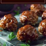 BBQ Meatballs recipe #bbq #meatballs #beef #party #appetizer