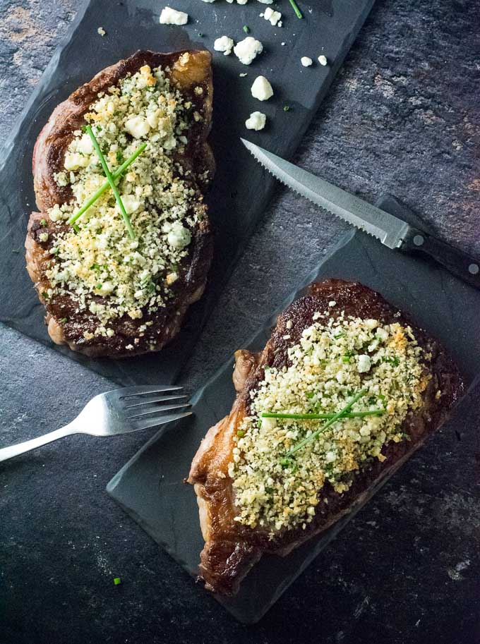 Blue Cheese Crusted Steak Recipe