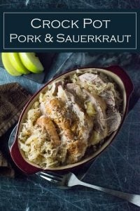 Crock Pot Pork and Sauerkraut recipe #pork #sauerkraut #german #newyears #slowcooker #easy