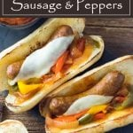 Crock Pot Sausage and Peppers recipe #crockpot #slowcooker #easyrecipe #sausages #italian