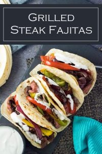 Grilled Steak Fajitas recipe #texmex #mexican #beef #steak #grilled #grilling #cookout
