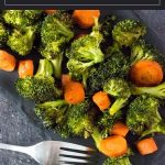 Roasted Broccoli and Carrots recipe #sidedish #vegan #vegetarian #vegetables #easy #carrots #broccoli #healthy