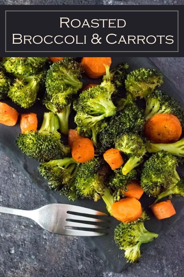 Roasted Broccoli and Carrots recipe #sidedish #vegan #vegetarian #vegetables #easy #carrots #broccoli #healthy