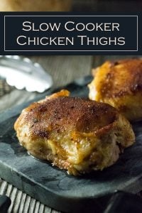 Slow Cooker Chicken Thighs Bone In recipe #chicken #slowcooker #crockpot #easy #thighs