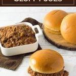 Slow Cooker Sloppy Joes recipe #slowcooker #crockpot #beef #sloppyjoes #easyrecipe #sandwich #lunch