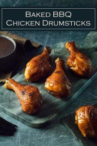 Baked BBQ Chicken Drumsticks recipe #chicken #bbq #baked #drumsticks #dinner